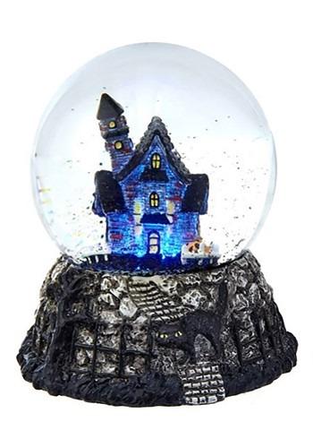 LED Haunted House Waterglobe
