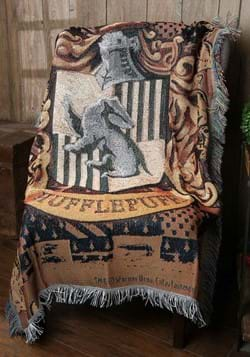 Harry Potter Hufflepuff Shield Woven Tapestry Throw Blanket