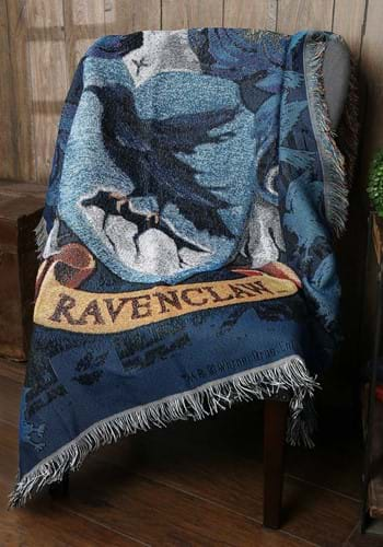 The Harry Potter Ravenclaw Crest Woven Tapestry Blanket