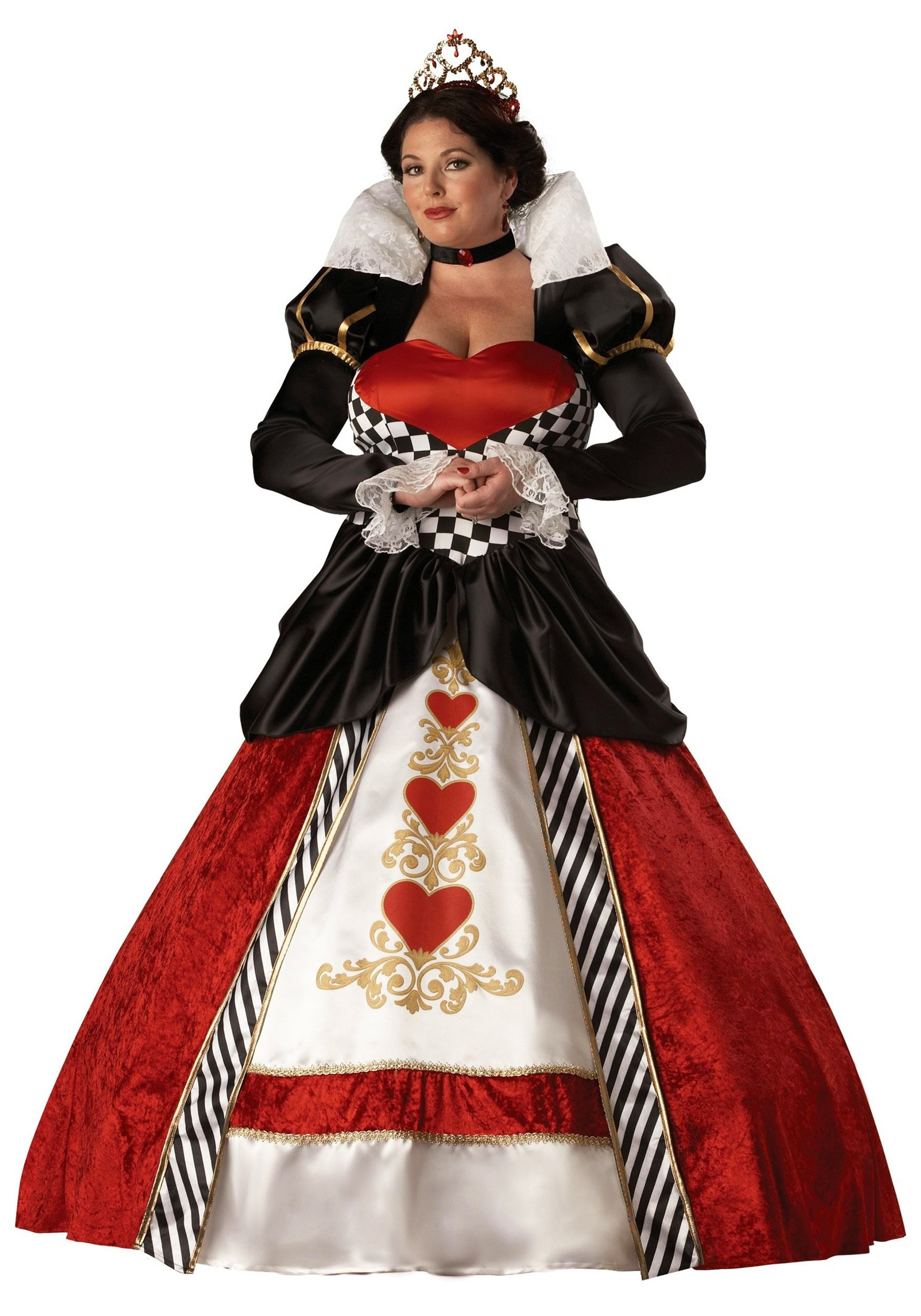 Womens Queen of Hearts Plus Size Costume  sc 1 st  Fun.com & Queen of Hearts Plus Size Costume for Women