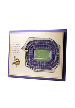 Minnesota Vikings 5-Layer Stadium Wall Art