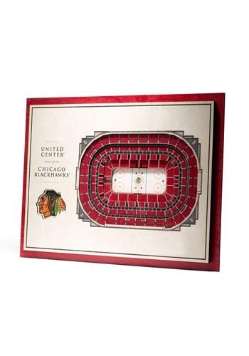 Chicago Blackhawks 5-Layer Stadium Wall Art