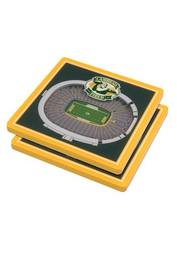 Green Bay Packers NFL 3D Stadium Coasters