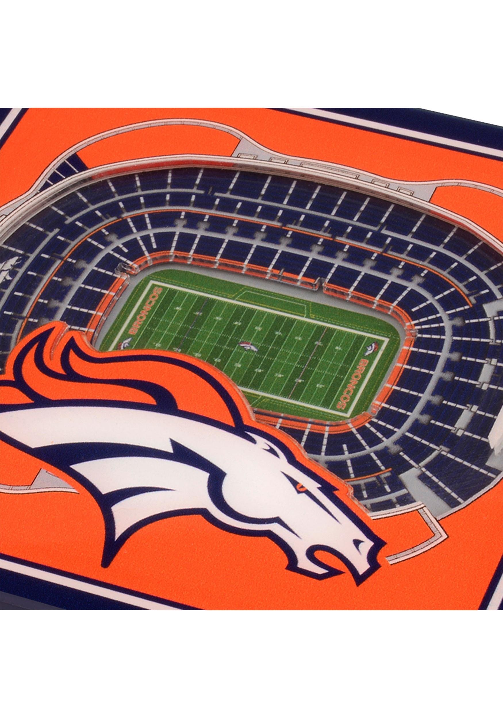 3d Denver Broncos Stadium Coasters