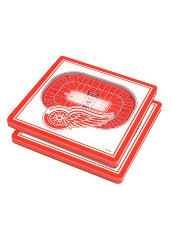 Detroit Red Wings 3D Stadium Coasters correct