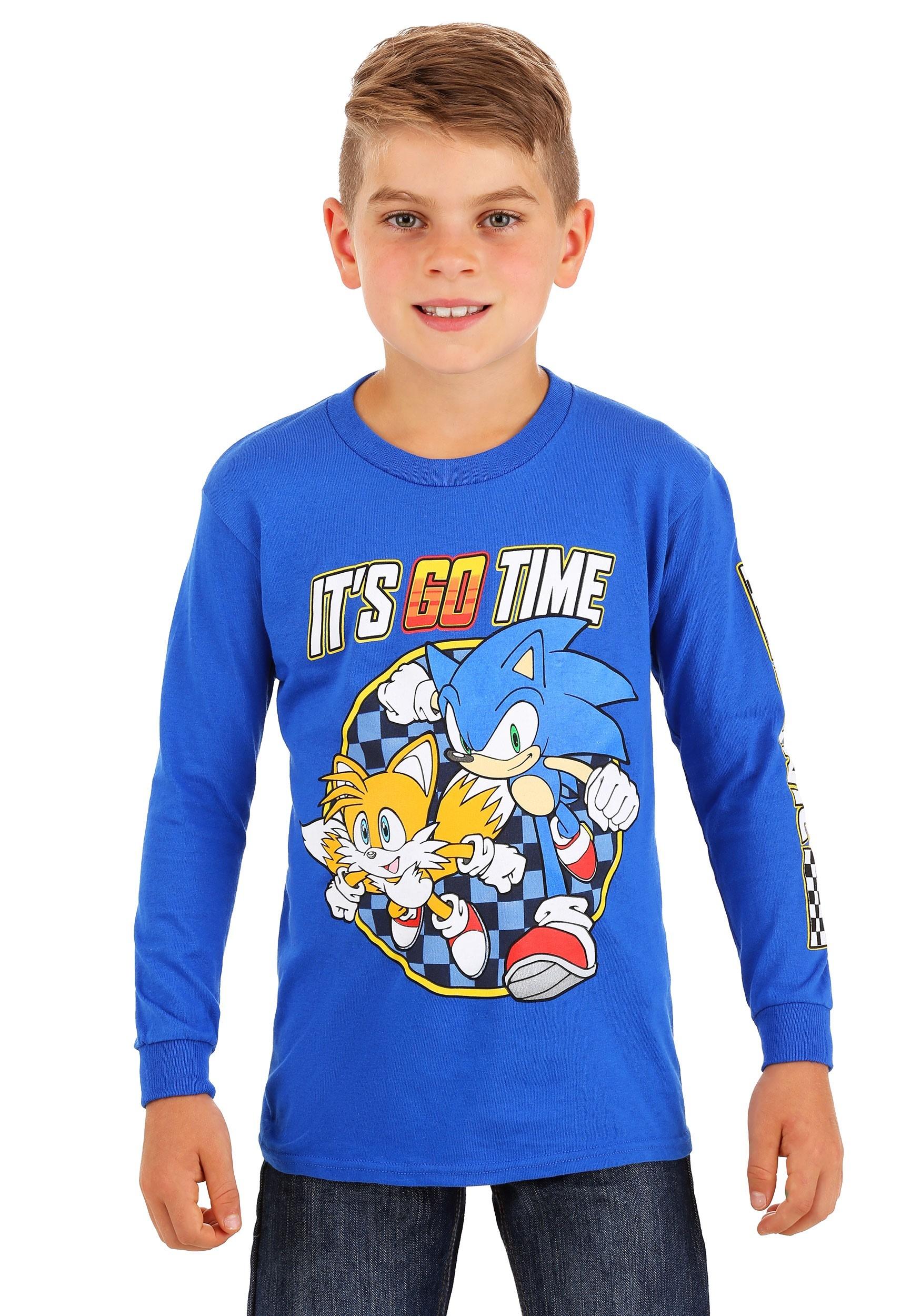 Boys Sonic The Hedgehog It S Go Time Long Sleeve Shirt