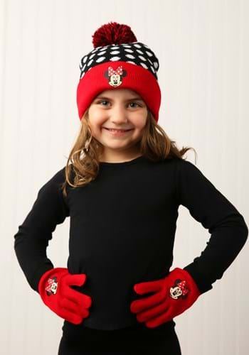 Minnie Mouse Cuffed Winter Hat Set with Gloves update 1