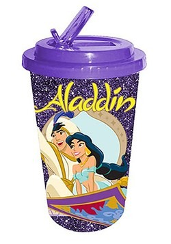 Aladdin Glitter 16oz Plastic Flip Star Cold Cup