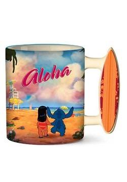 Stitch Aloha 20oz Ceramic Mug w/ Sculpted Handle