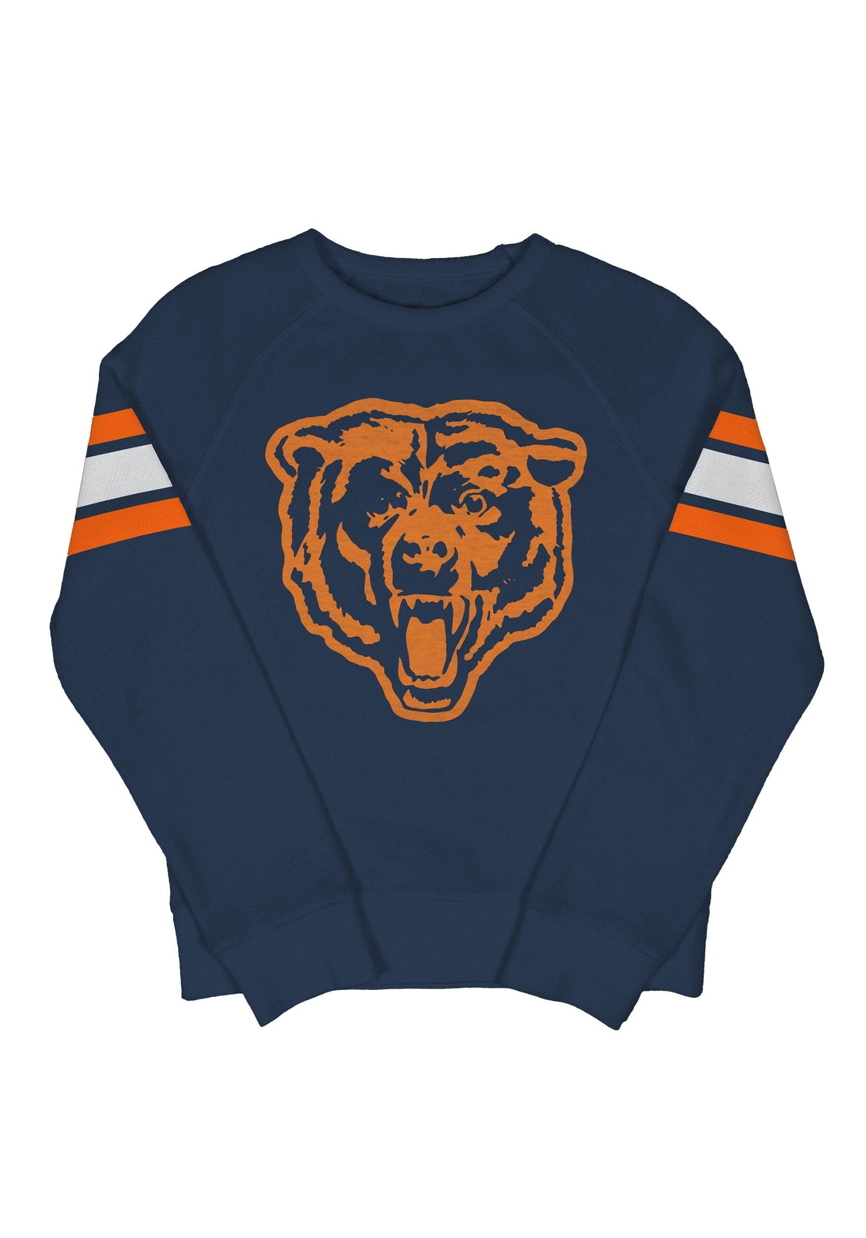 1dd159f4 Chicago Bears Kids Fleece Navy Crewneck