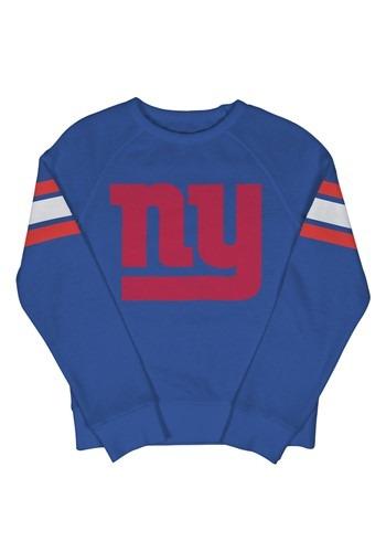 New York Giants Youth Fleece Blue Crewneck