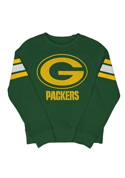 Green Bay Packers Youth Fleece Hunter Green Crewneck