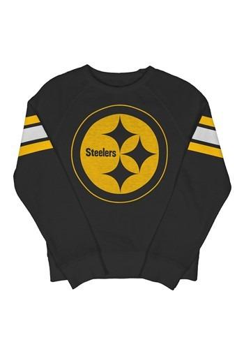 Pittsburgh Steelers Youth Fleece Black Crewneck