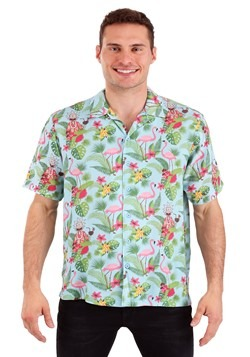 Rick and Morty Rick Hawaiian Style Woven Button Up