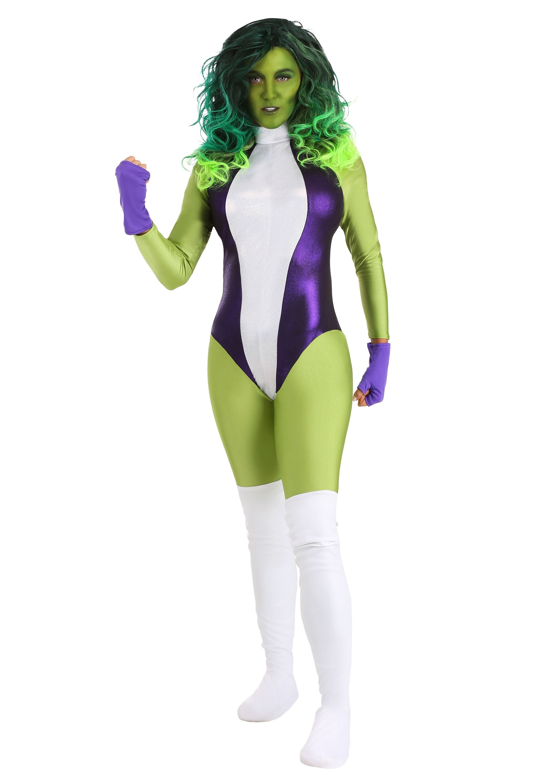Marvel Hulk T-Shirt and Wig Adult Costume