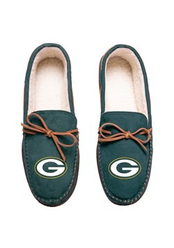 GREEN BAY PACKERS TEAM COLOR BIG LOGO MOCCASIN