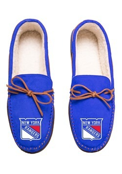 NEW YORK RANGERS TEAM COLOR BIG LOGO MOCCASIN