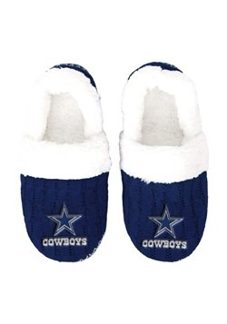 DALLAS COWBOYS UGLY KNIT WOMENS MOCCASIN