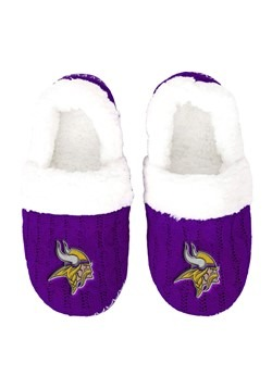MINNESOTA VIKINGS UGLY KNIT WOMENS MOCCASIN