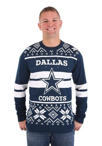 Dallas Cowboys 2 Stripe Big Logo Sweater Light up 1