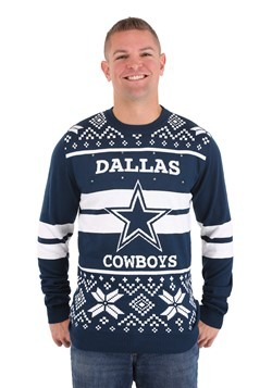 Dallas Cowboys 2 Stripe Big Logo Sweater Light up 1
