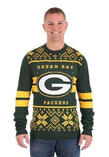 Green Bay Packers 2 Stripe Big Logo Sweater Light Up 1