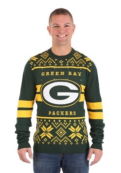 Green Bay Packers 2 Stripe Big Logo Sweater Light Up 1