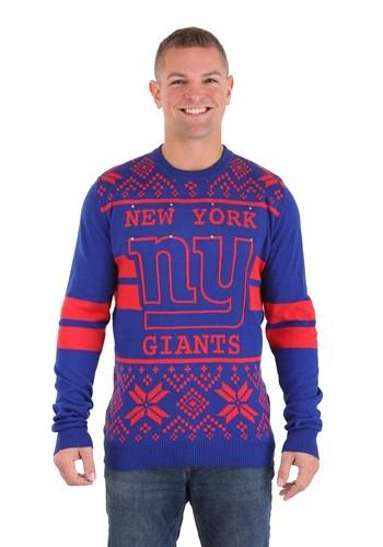 New York Giants 2 Stripe Big Logo Sweater Light Up 1