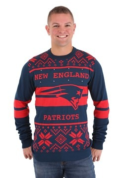 New England Patriots 2 Stripe Big Logo Light-Up Sweater 1