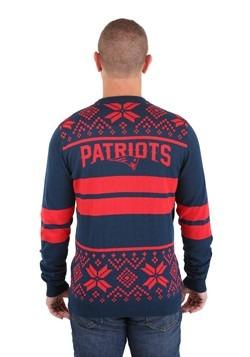 New England Patriots 2 Stripe Big Logo Light-Up Sweater alt1