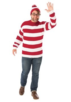 Where's Waldo Deluxe Adult Plus Size Costume
