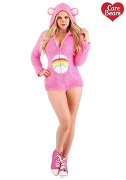 Womens Cheer Bear Care Bears Romper Costume