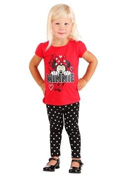 Minnie Mouse Red Shirt Polka Dot Leggings 2 Piece Set