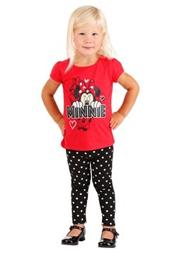 Minnie Mouse Red Shirt/Polka Dot Leggings 2 PC Set