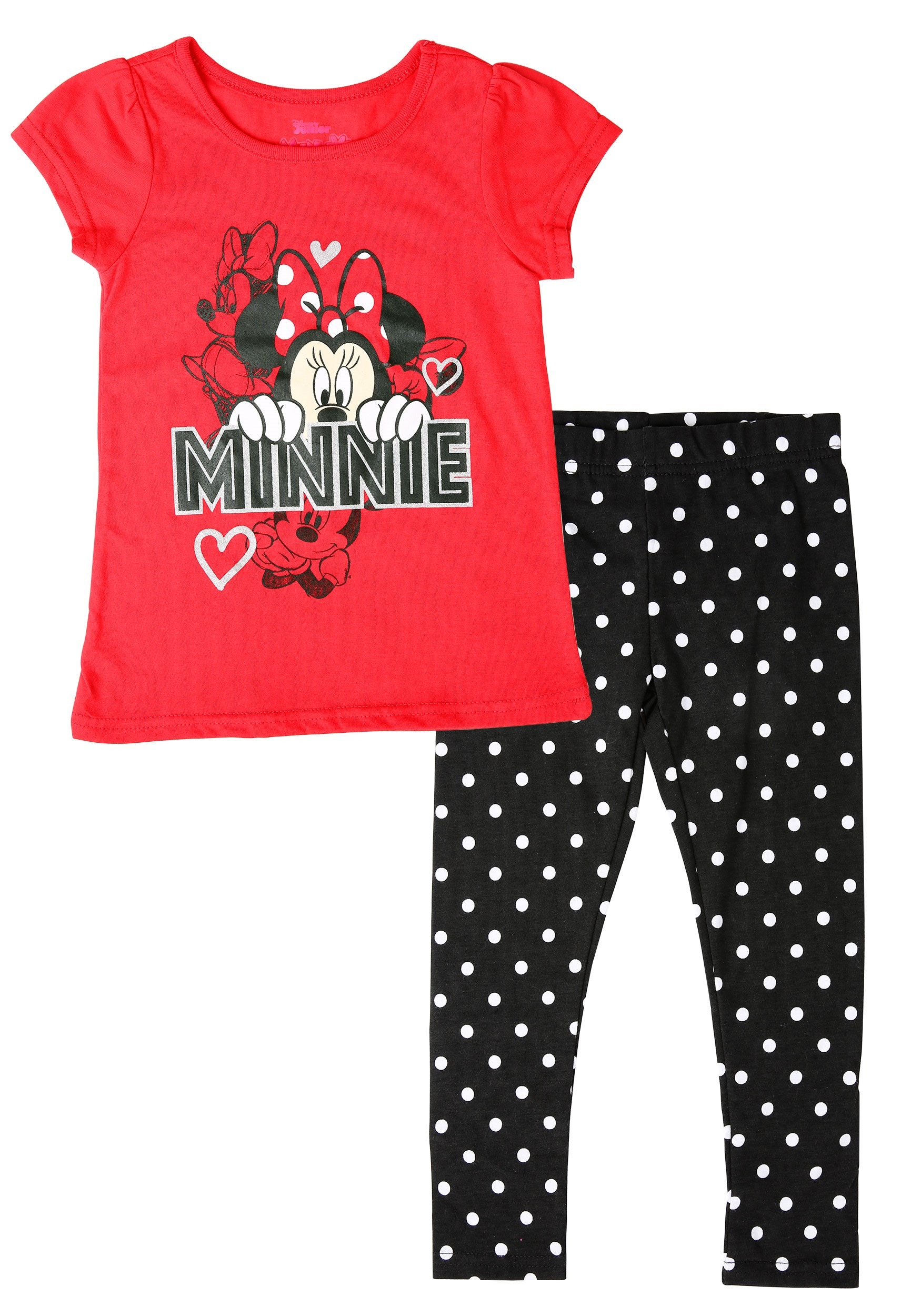NEW TODDLER DISNEY MINNIE MOUSE OUTFIT RED SWEET LIKE SUGAR SIZE 2T 3T 2 PIECE