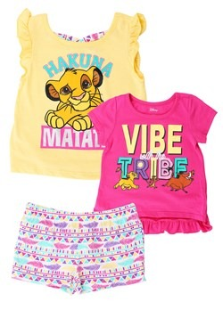Lion King 3 Piece Set animal new