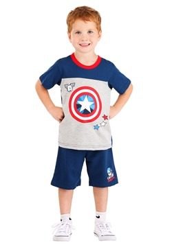Captain America Tee and Terry Short Set 1