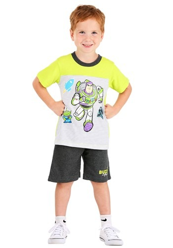 Buzz Lightyear Striped Tee and Terry Short Set 1