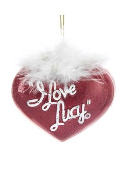 I Love Lucy Glass Heart Ornament