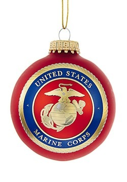 Marine Corps Logo Glass Ball Ornament