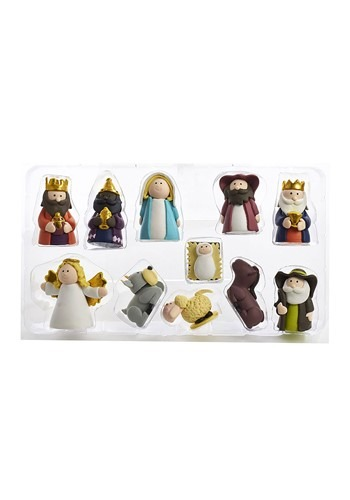 Claydough Nativity 11pc Figurine Set