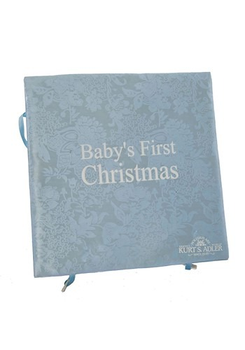 Kurt Adler Noble Gems Glass Baby Boy Ornament 4pc Set