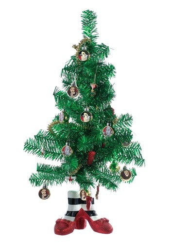 Wizard of Oz Miniature Tinsel Christmas Tree