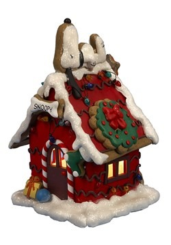 Snoopy Gingerbread House Light Decoration