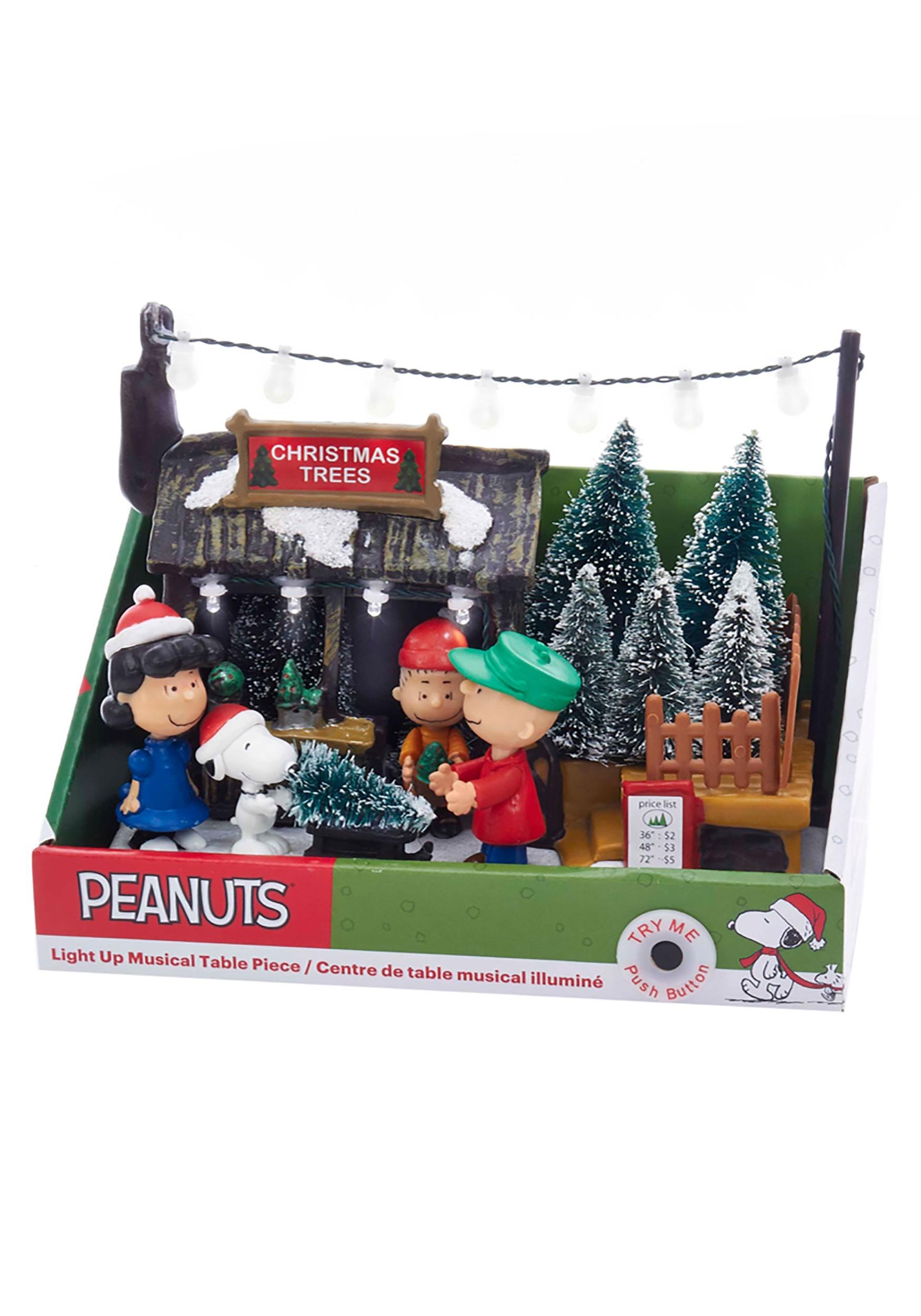 Peanuts Christmas Musical.Peanuts Musical Animated Christmas Tree Shop Table