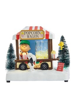 Peanuts Musical LED Light Up Popcorn Wagon Figure