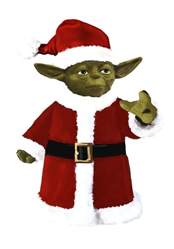 Yoda Santa Claus Treetopper Tablepiece