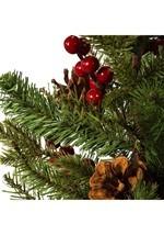 "24"" Red Berries & Pinecones Tree w/ Burlap Base Alt 1"