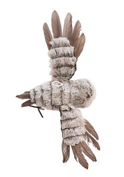Gray Flying Owl Ornament Alt 1