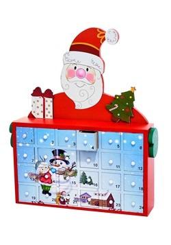 "12"" Santa Advent Calendar Cabinet"